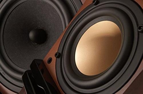 Swan - Beautiful Powered Living Room Laptop Speakers - - Rosewood Pink Aluminium Drivers and Finish Internal Amplifier
