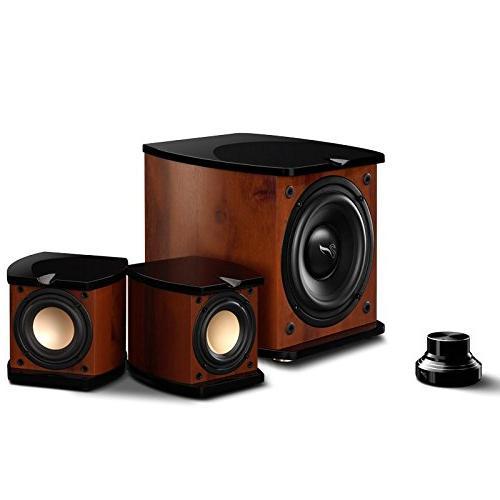 Swan Speakers - M20W - Beautiful Powered 2.1 Living Room Lap