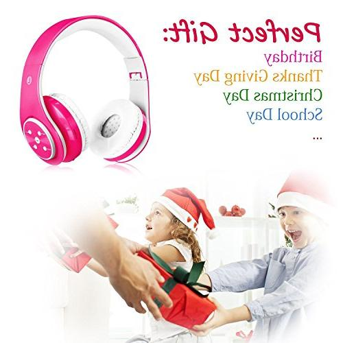 Wireless Bluetooth Girl Wired Headset Lightweight Foldable Adjustable Over Earphone with Microphone Line in TF Card Study PC