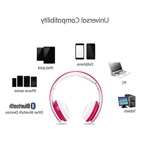 Wireless Headphones,VOTONES Girl Wired Foldable Earphone Line in Study Compatible with PC