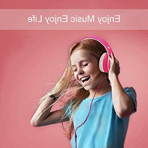 Wireless Kids Girl Foldable Adjustable Over Earphone with Microphone in TF Card for Study PC