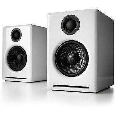 a2 wireless white 2 way powered speaker