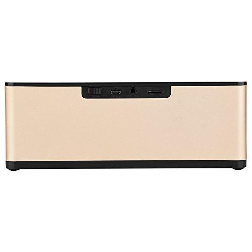 fosa Digital LED Alarm Clock Portable Electric Speaker Bedroom Bedside Office iPhone Android Computer