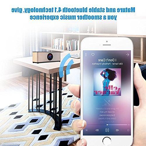fosa Digital Clock Bluetooth Speaker, Portable Radio Speaker for Bedroom Bedside Desk iPhone Laptop Computer