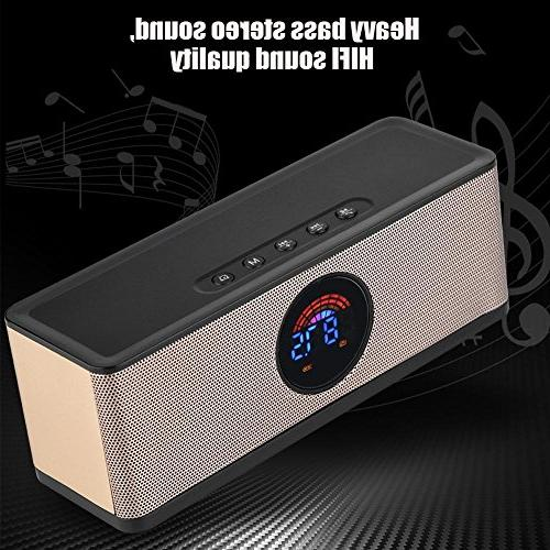 fosa LED Clock Speaker, Portable Electric FM Bedroom Bedside iPhone Android Computer