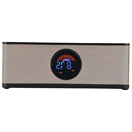 fosa Digital LED Clock Speaker, Speaker Bedroom Office iPhone Android Laptop Desktop Computer