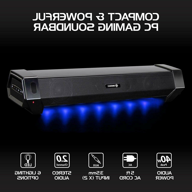 ENHANCE Gaming Soundbar Under PC Bar Speaker