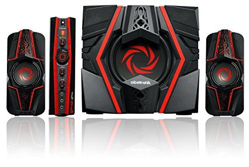 AVer Speaker System W RMS - Black, Red - - USB - Volume On/Off