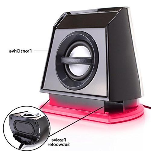 Speakers with LED Accents, Passive