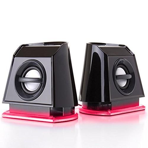 GOgroove BassPULSE Computer Speakers Passive Subwoofer