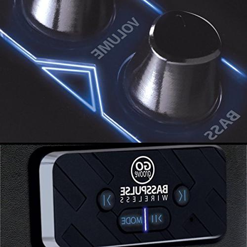 GOgroove Speakers 2.1 Subwoofer, Lights 33 Foot Wireless Your Smartphone, Devices