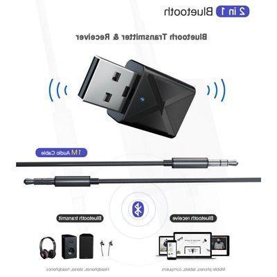 Bluetooth Audio Transmitter Adapter For TV/PC Headphone Speaker
