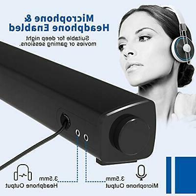 Bluetooth Speaker Wired Sound Bar PC Stereo Mini Com...