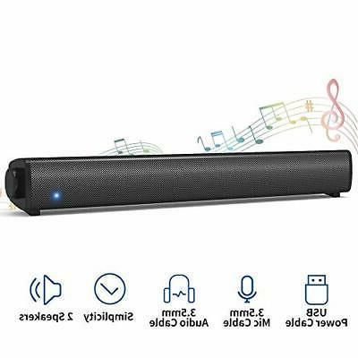 bluetooth computer speaker wired sound bar