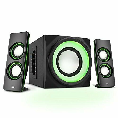 Cyber Acoustics Bluetooth Speakers with LED Lights – The P