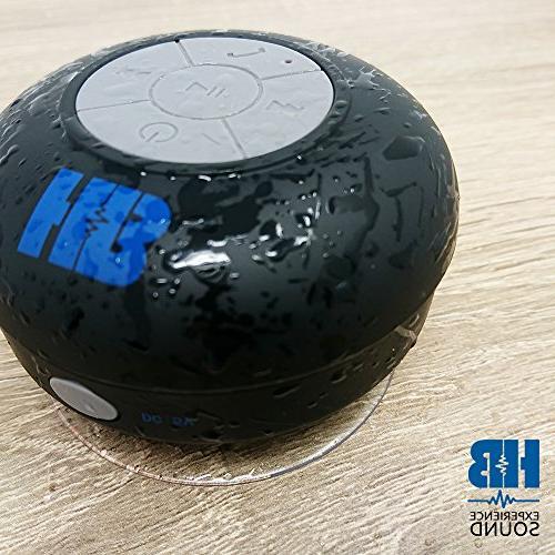 Waterproof Portable Speaker - HB Pebble Shower Cup, Pool, Shower, Beach, Tub, Outdoors, Indoors