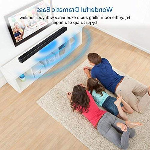 Bar 40W Remote Wireless 2.0 Channel EQ Modes TV Wall Mountable, Matt