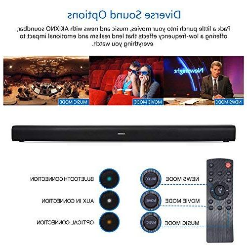 40W Wireless 2.0 Channel Home 3 EQ Modes for TV Tablets Gaming, Mountable, Matt