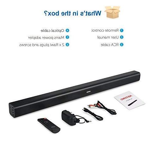 Bar 40W Remote Wireless Channel 3 EQ Ideal for Mountable, Matt