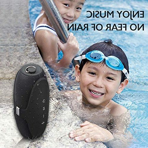 MOOCK Bass, Speaker with 4.2 HD Sound,Durable Shower,Pool,Party,Camping - Black