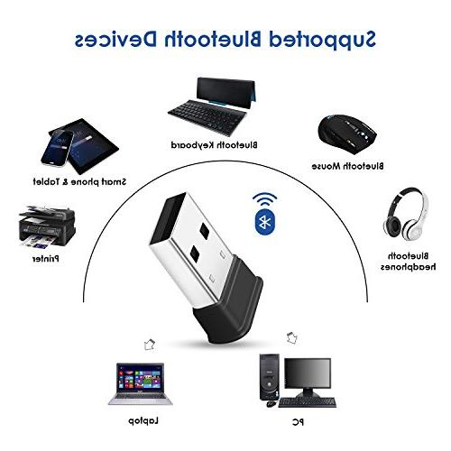 Bluetooth Bluetooth 4.0 Dongle, Low Energy for Wireless Bluetooth for PC Laptop Desktop Computer, with Windows 10, 8, Linux and Raspberry