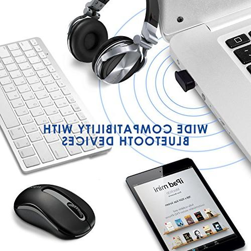 Bluetooth 4.0 Dongle, Energy Bluetooth Dongle Laptop Desktop Compatible with Windows 8, Vista, XP, Linux and Raspberry