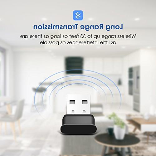 Bluetooth Adapter, 4.0 USB Dongle, Energy for PC, Bluetooth Dongle Laptop with 10, 8.1, Linux and