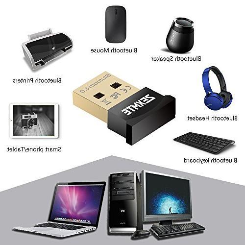 ZEXMTE Bluetooth USB CSR USB Bluetooth Receiver Transfer Adapter Laptop PC Support Windows 10/8/7/Vista/XP,Mouse Keyboard,Headset