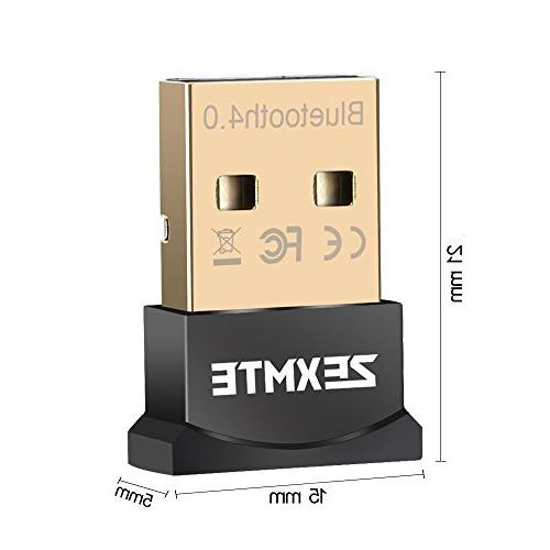 CSR 4.0 USB Bluetooth Receiver Adapter Support Windows 10/8/7/Vista/XP,Mouse and Keyboard,Headset