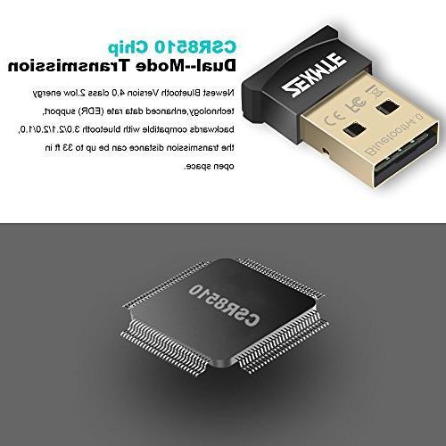 ZEXMTE Bluetooth Adapter CSR 4.0 USB Dongle Bluetooth Receiver Support Keyboard,Headset