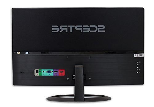 "Sceptre 27"" LED Monitor C278W-1920R HD VGA Speakers, Ultra Curvature,"