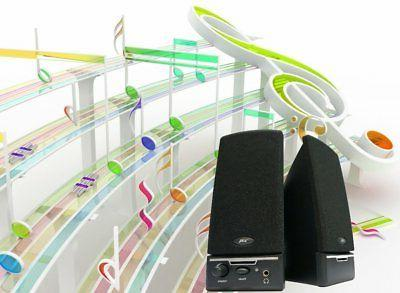 Cyber Acoustics CA-2014 desktop computer FAST FREE