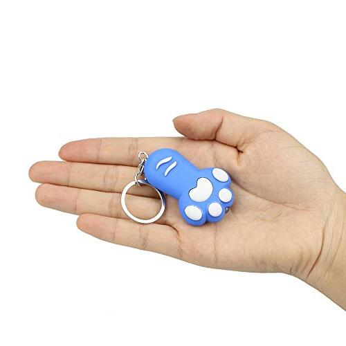 Keychain LED Light and Keyfob for Girls,Kids Feet Girls Boys Included,1 Pcs