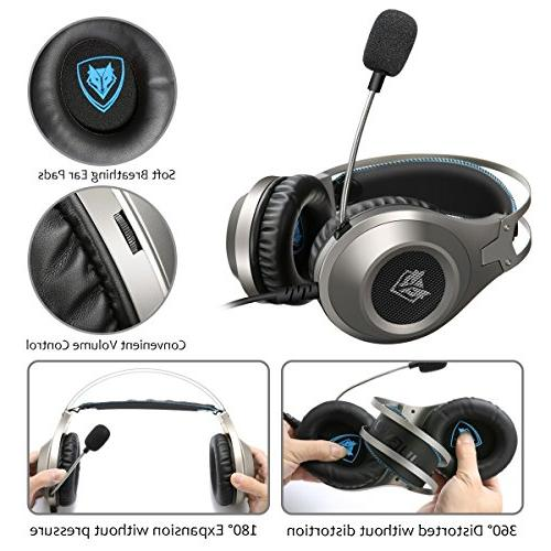 Computer Headsets, ELEGIANT Gaming Headphone with Microphone, Bass Stereo Volume PS4 Xbox One Nintendo PC Laptop