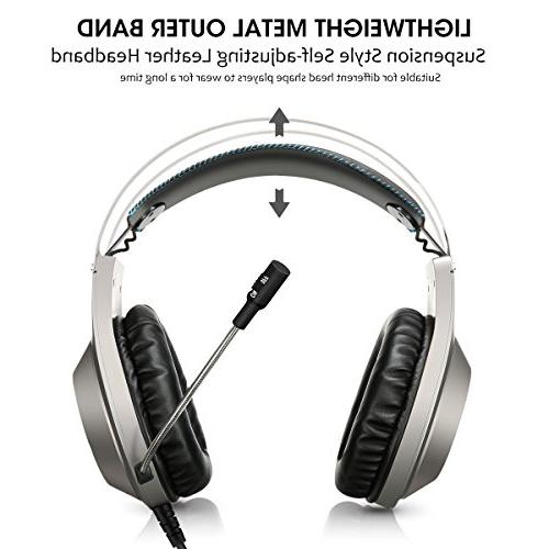 Computer Gaming Headphone with Bass Surround Volume Compatible with Nintendo Switch Laptop