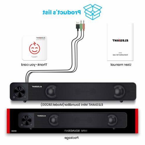 Computer Speakers, Soundbar For Laptop