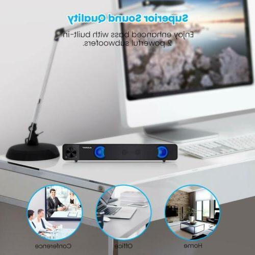 Computer Sound Bar, Speakers, Powered Mini Soundbar