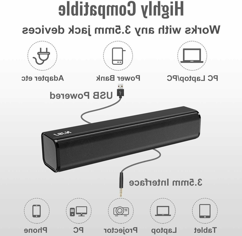 NJSJ Computer USB Speakers for