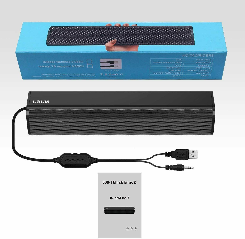 NJSJ USB Powered 3.5mm Speakers for