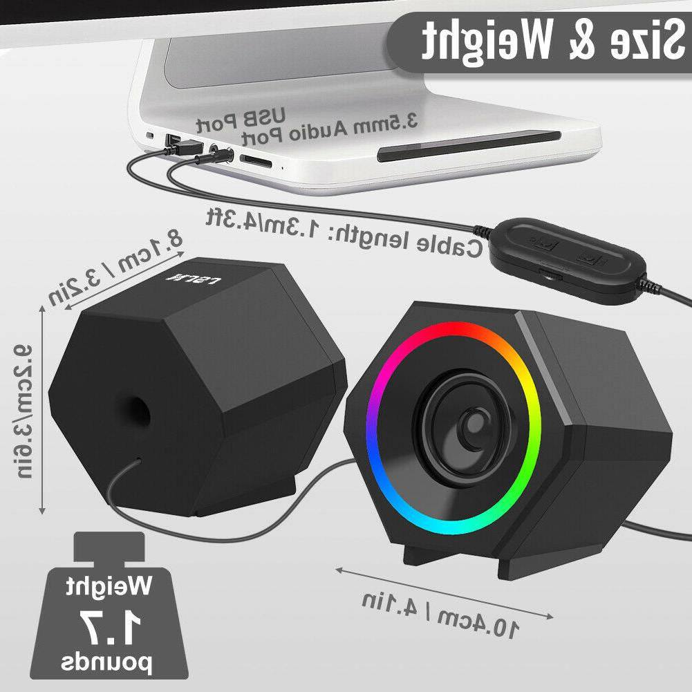 Computer Powered 3.5mm Jack RGB Gaming for PC/Desktop