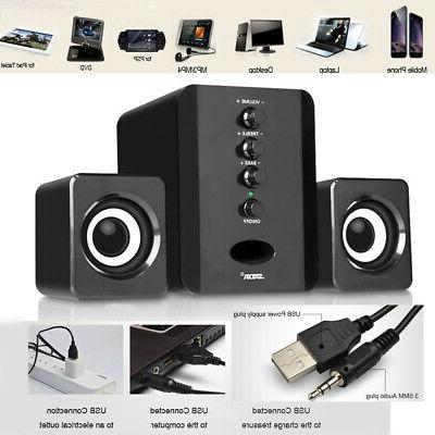 Mini Computer Speakers USB PC Laptop Desktop System with Ste
