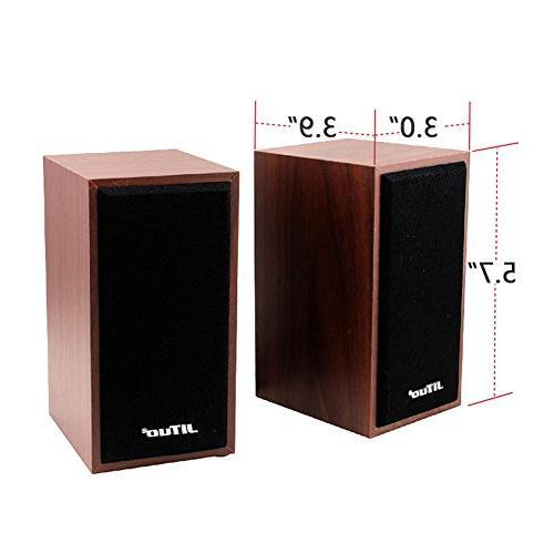 HaloVa Speakers, 2.0 Powered Mini Desktop Multimedia Loudspeaker for PC, MP3 TV and Tablets