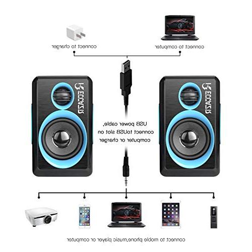 Surround Deep Powered PC/Laptops/Smart Phone Built-in Four Loudspeaker Diaphragm