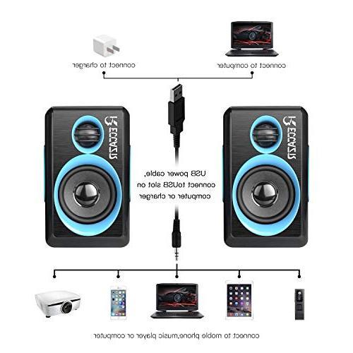 Surround Deep Powered PC/Laptops/Smart Phone Built-in Four Loudspeaker Diaphragm