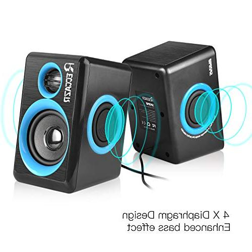Surround Deep Wired Powered Speaker for PC/Laptops/Smart Four Loudspeaker Diaphragm