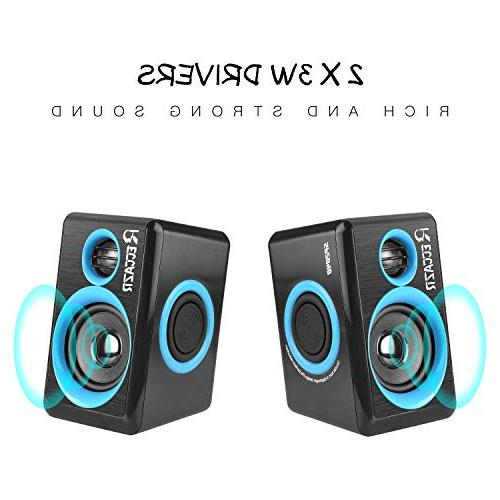 Surround Speakers with Deep Bass Powered PC/Laptops/Smart Phone Built-in Four