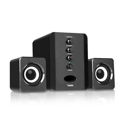 USB 2.1 Computer Laptop Tablet PC Speakers System 3.5mm Wire