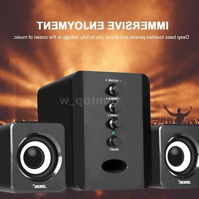 Mini Computer Speakers with Stereo Subwoofer