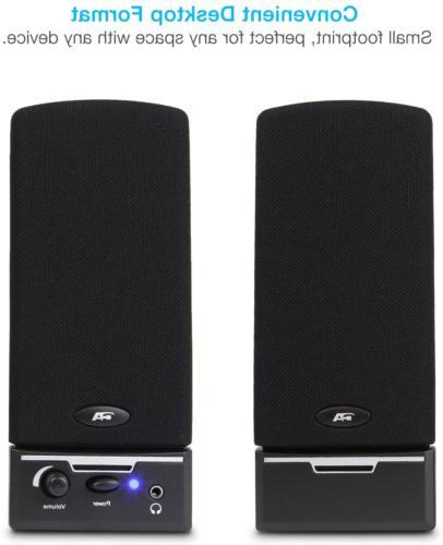 Cyber Acoustics CA-2014 Multimedia Desktop Computer Speakers 2.0 PC Speaker