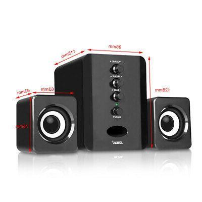 SADA USB Wired Mini Speakers Bass Stereo Music Laptop